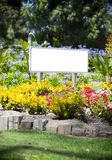 Sign flowers Royalty Free Stock Photos