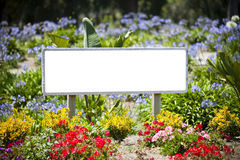 Sign flowers Stock Images