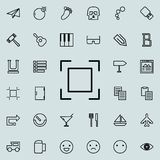 Sign of focusing outline icon. Detailed set of minimalistic line icons. Premium graphic design. One of the collection icons for we. Bsites, web design, mobile Stock Images