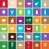Sign food set Royalty Free Stock Photography
