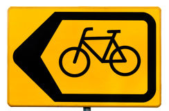 Free Sign For Cyclists Indicating A Traffic Diversion Stock Photo - 27715340
