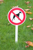 Sign forbid walk dogs Royalty Free Stock Photos