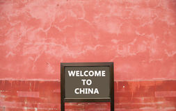 Sign at Forbidden City in Beijing, China Royalty Free Stock Photo