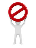 Sign forbidden on white background Royalty Free Stock Image