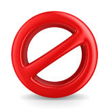 Sign forbidden on white background Stock Image