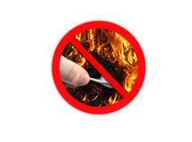 Sign forbidding to make fire Stock Image