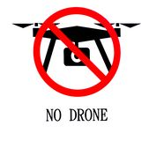 Sign Forbidding the Use of Drones royalty free stock photo