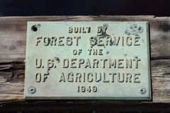 Sign on Forest Service Built Bridge Royalty Free Stock Images