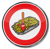Sign french fries and fast food Royalty Free Stock Photos