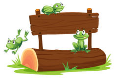 Sign with frog Stock Image