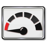 Sign with fuel gauge. And fuel consumption Royalty Free Stock Photos
