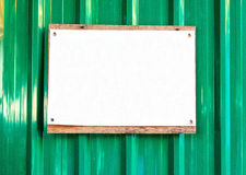Sign on galvanized iron Stock Photography