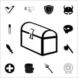 sign in the game chest icon. Game icons universal set for web and mobile stock illustration