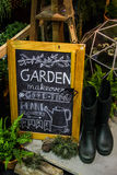 Sign for garden decoration Royalty Free Stock Photo