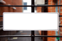 Sign on gate Stock Photography