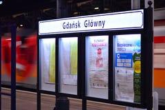 Sign Gdansk Glowny. royalty free stock photography