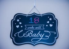 Gender Reveal Props royalty free stock photography