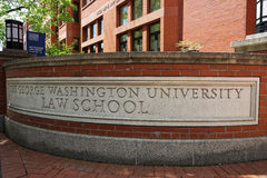 Sign of The George Washington Univertsity Law School Royalty Free Stock Photography