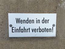 Sign in germany to beware of insects Stock Photos