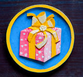 The Sign of gift box Royalty Free Stock Photo