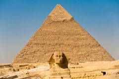Sign Giza Pyramid Khufu Cheops Base Stock Photography