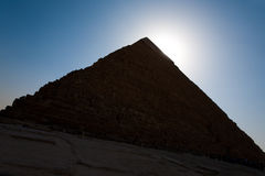 Sign Giza Pyramid Khufu Cheops Base Royalty Free Stock Photo