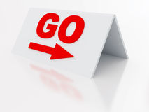 Sign go Royalty Free Stock Images