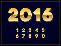 2016 Sign in Gold in Vector. 2016 Sign in Gold in EPS Vector Stock Photo