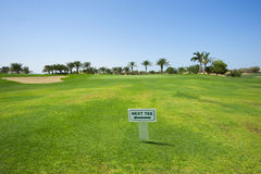Sign on a golf course Stock Photo
