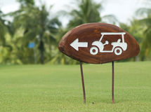 Sign on a golf course Stock Image