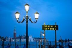 Sign for gondola dock in Venice, Italy Royalty Free Stock Photo