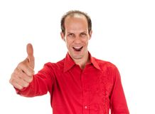 Young man showing a thumbs up Royalty Free Stock Photography