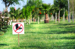 Sign on grass Royalty Free Stock Photos