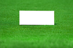 Sign on grass Royalty Free Stock Photography