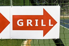 Sign for grill restaurant Stock Photos