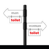 Sign and guideline for toilet illustration part two Stock Images