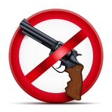 Sign with gun and symbol Stop arming royalty free stock image