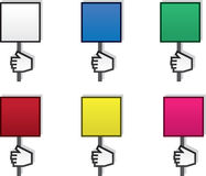 Sign Hand Blank Colors Stock Images