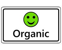 Sign happy Smiley for organic. Detailed and accurate illustration of sign happy Smiley for organic Stock Photos