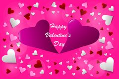 Sign Happy Valentine`s Day vector royalty free stock images