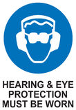 Sign Hearing and Eye Protection Must be Worn in Vector Royalty Free Stock Images
