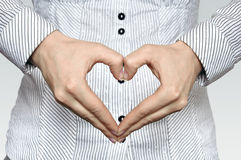 Sign heart Stock Images