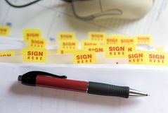 Sign Here Royalty Free Stock Image