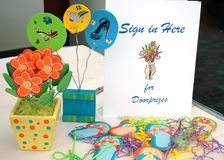 Sign In Here for Doorprizes Stock Images
