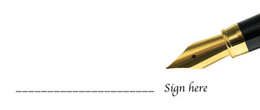 Sign Here Form Royalty Free Stock Image