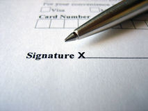 Sign Here Please. Please sign at the X royalty free stock image