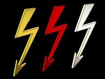 Sign High Voltage 3d Rendering stock illustration
