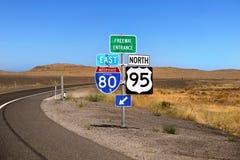 Sign Highways US Interstate. US Interstate Highways signs. Utah. United States stock photos