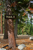 Sign for Hiking Trail royalty free stock images