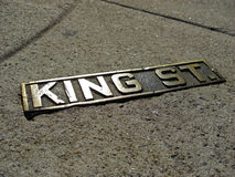 Sign of the historic King Street in Charleston, 2008 Stock Images